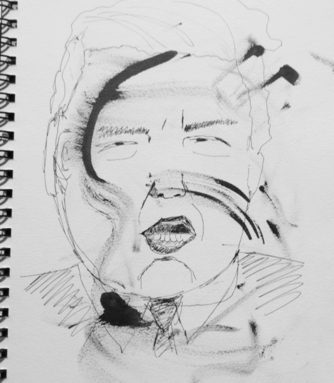 """It's Official"". Art journal, ink"