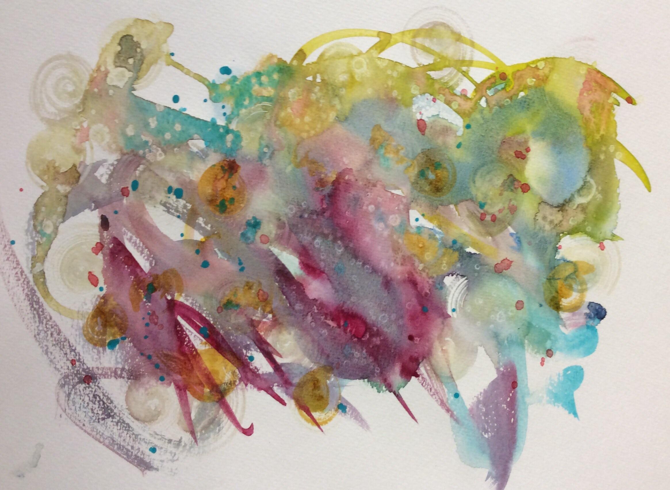 """Keep On Rolling"". Art journal, watercolour"