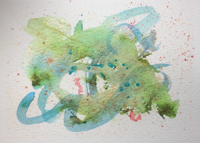 "Watercolour doodle note card, 5x7"""