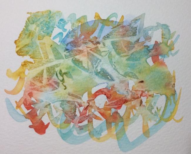 "Watercolour notecard, 5 x 7"""