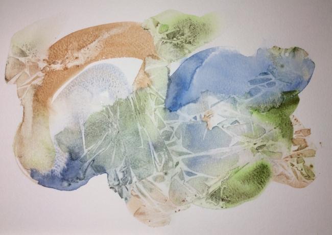 """""""Wilderness"""" Art journal, watercolour"""