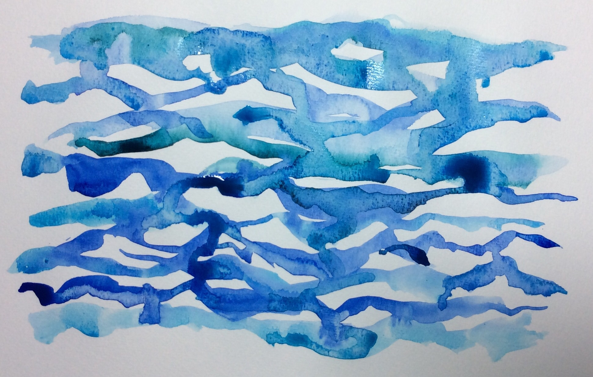 """Least Resistance"" Art journal, watercolour"