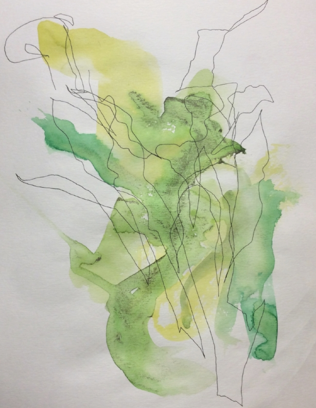 """""""Calla Lily"""" Art journal, ink and watercolour"""