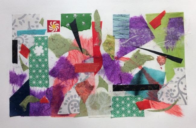 """""""Scrap Heap"""". Art journal, collage."""