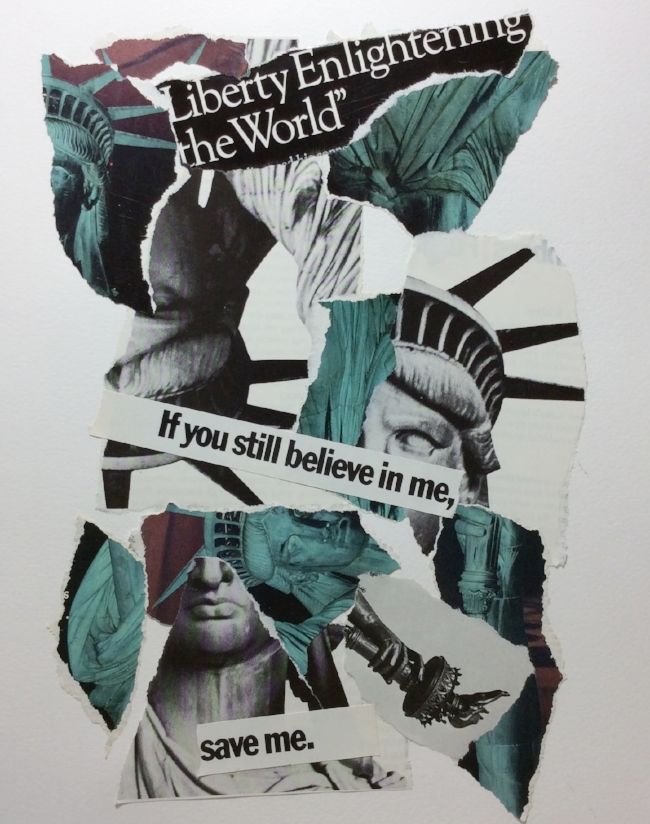"""Save Me""  Art journal, magazine collage."