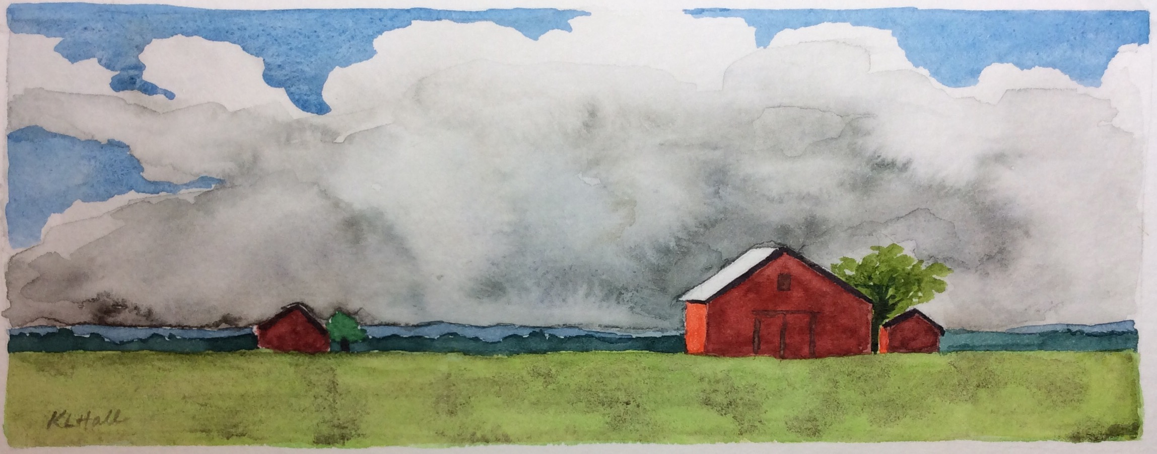 Notecard, watercolour