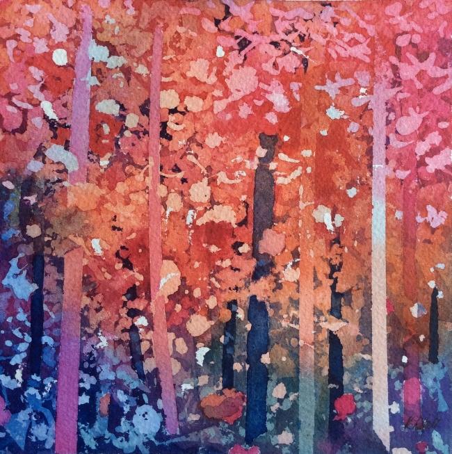 """Forest Fantasia"" Watercolour, 8 8"""