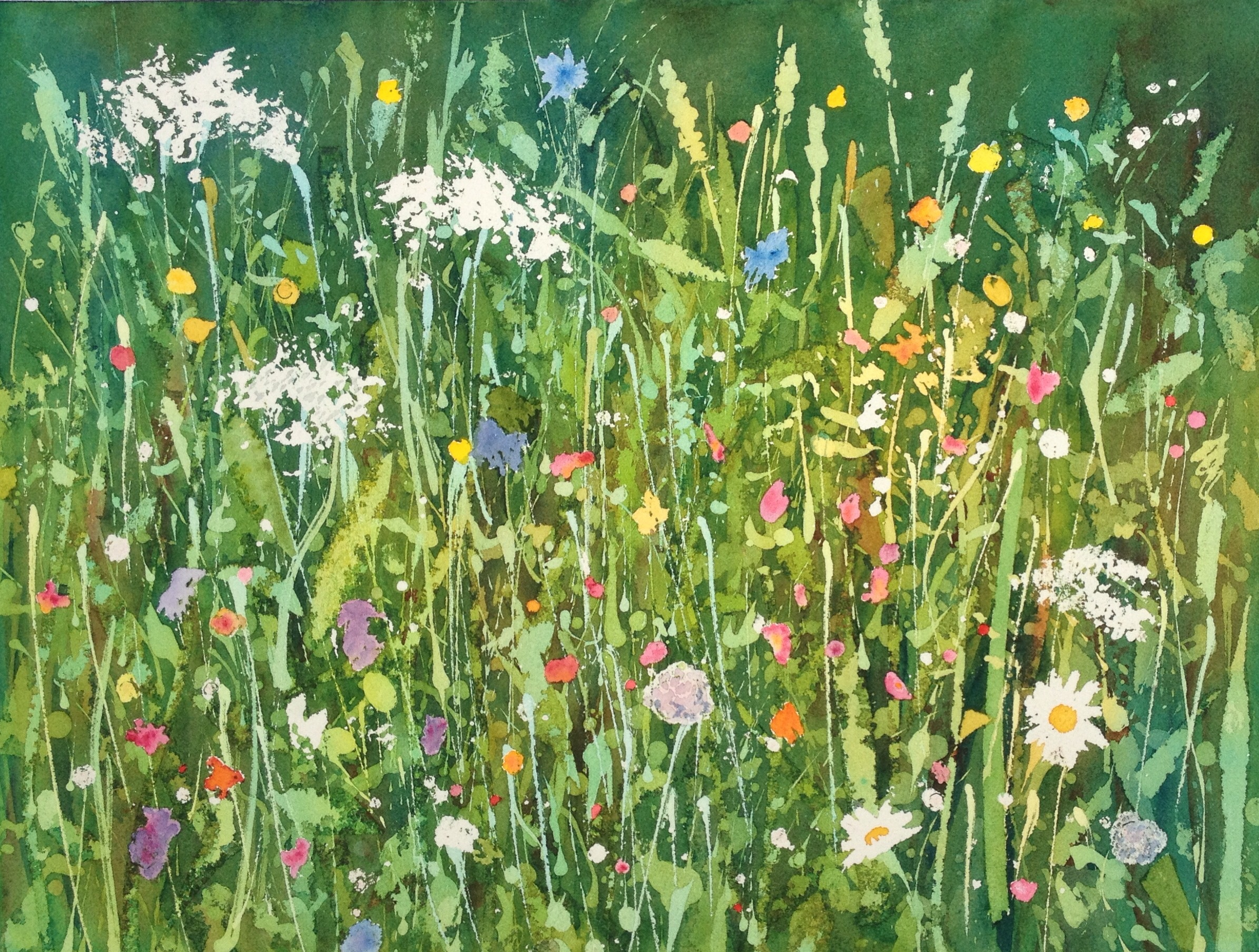 """Roadside Wildflowers"". Watercolour, 12 x 16"""