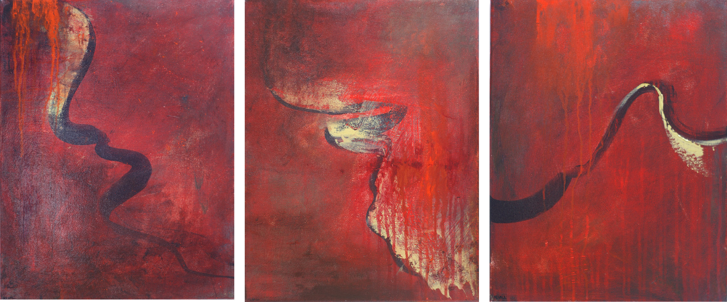 Into Red triptych