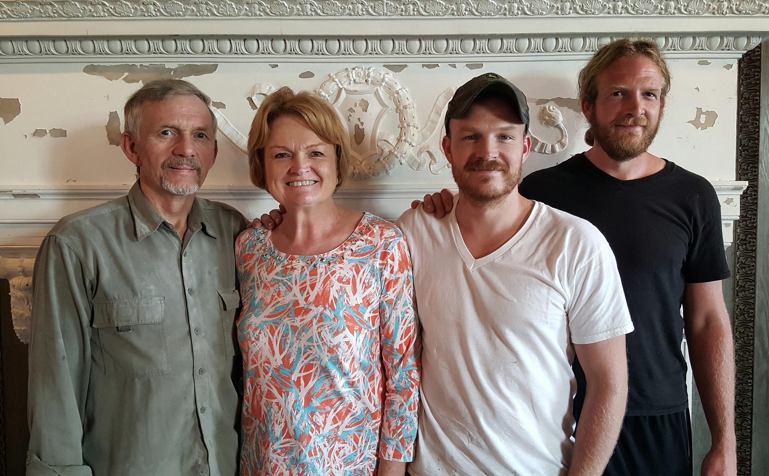The Long Family: Roger, Tammy, Jordan and Shane.