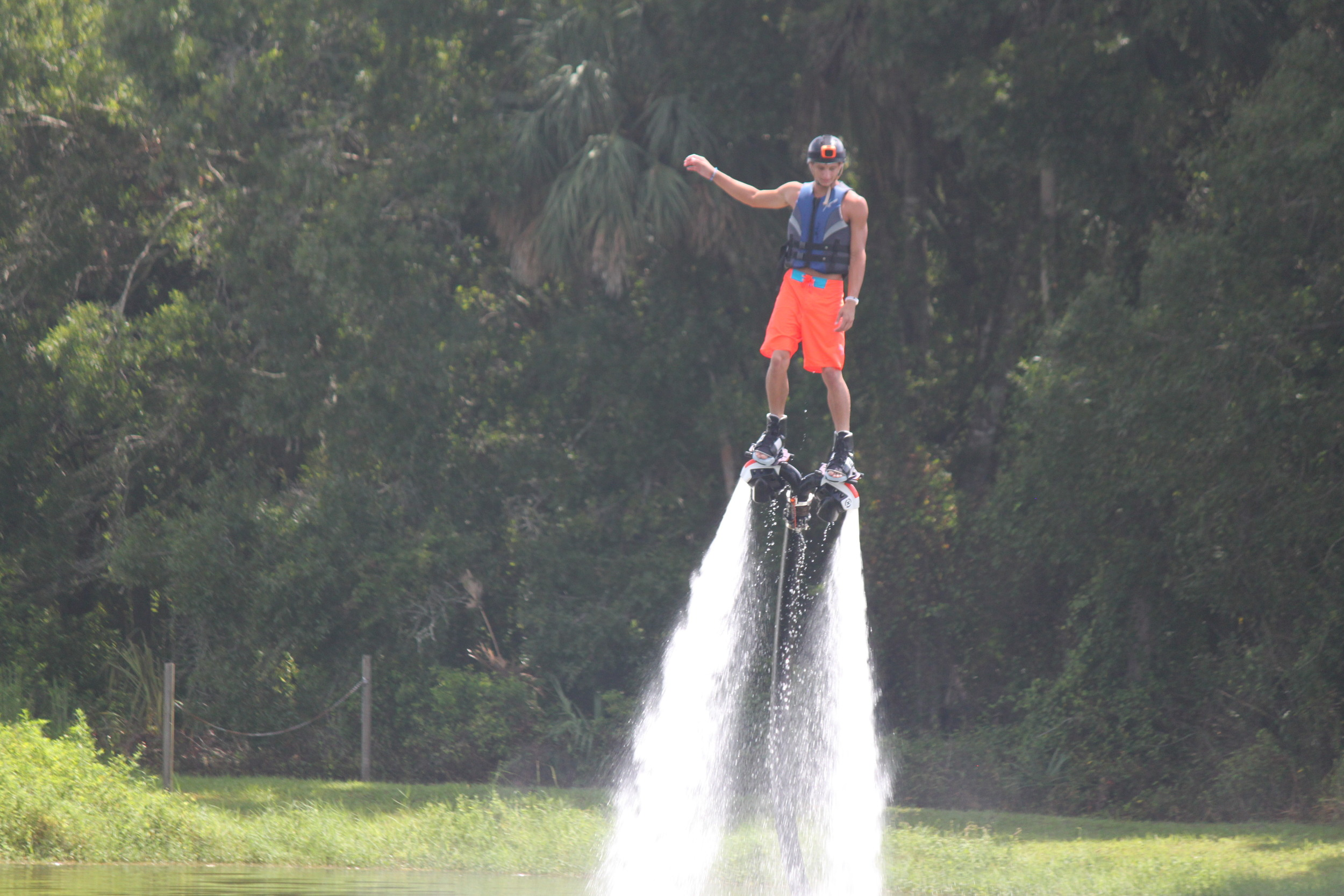 First time flyboarding, great vacation activity in Fort Myers, Florida.