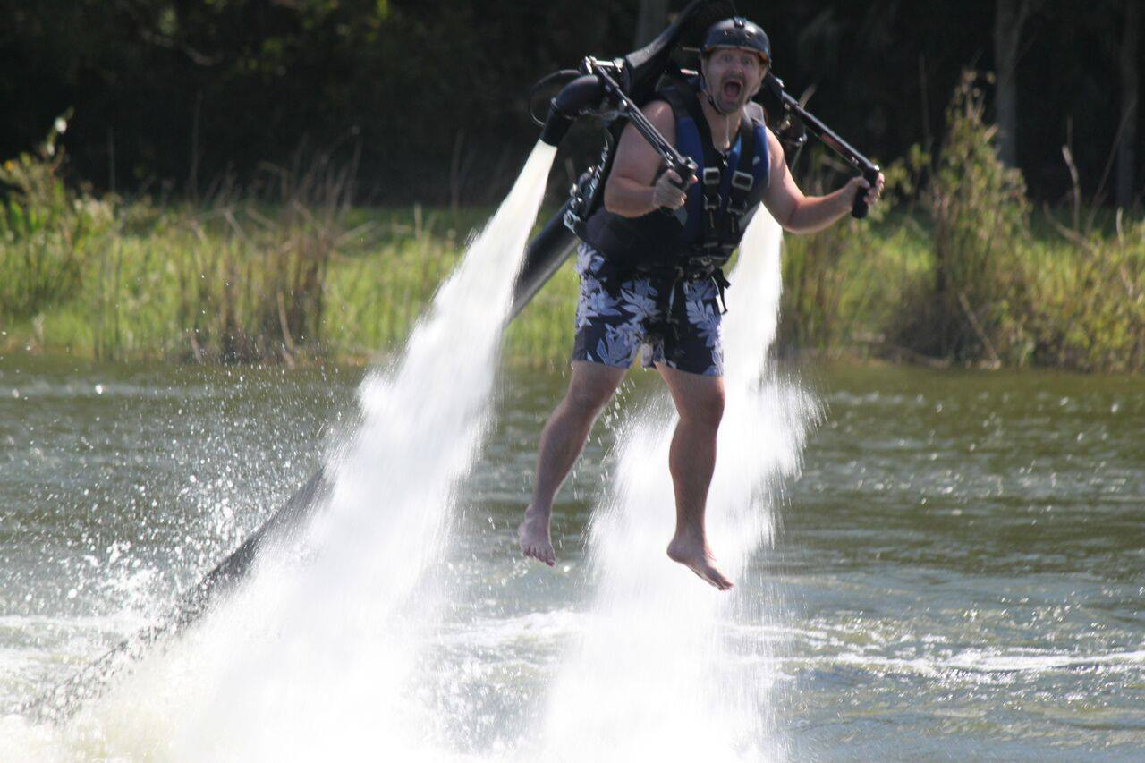 jetpacks - You're in for a thrill when you strap into this thing. Take off within seconds and cruise the sky, soaring above the waters below. $149 with instruction. (30m)