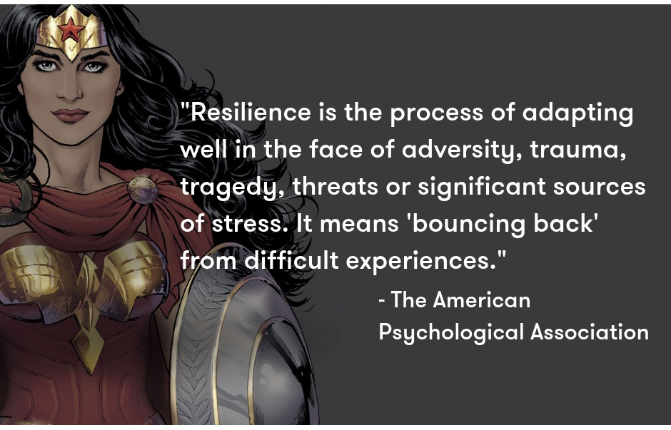 Quote Source:  The American Psychological Association  Photo Credit:  DC Comics
