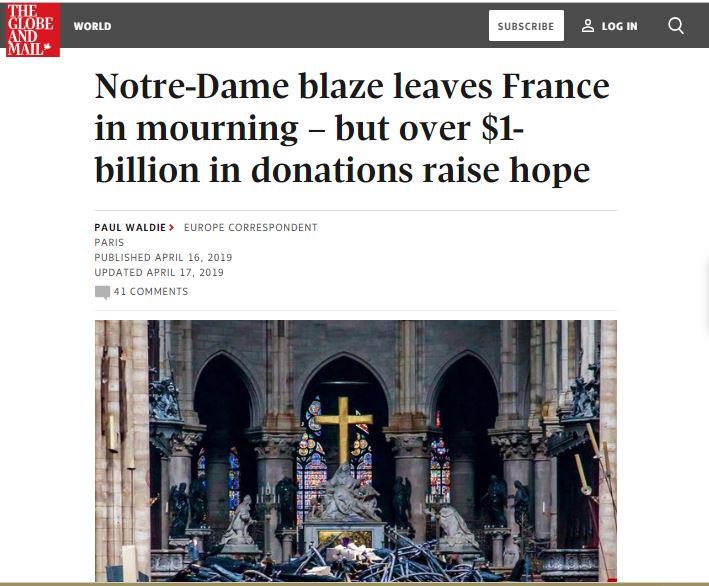 Globe and Mail Headline
