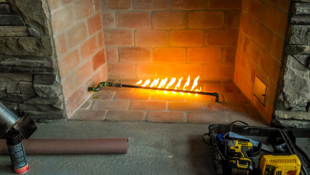GAS FIRE STARTER - Some of our customers choose to have a fireplace in their home. For these customers, we use a gas fire starter, which provides the comfort of a traditional fireplace with all the safety new technology provides. Using this gas fire starter, you enjoy a real wood fire, without the hassle of kindling.