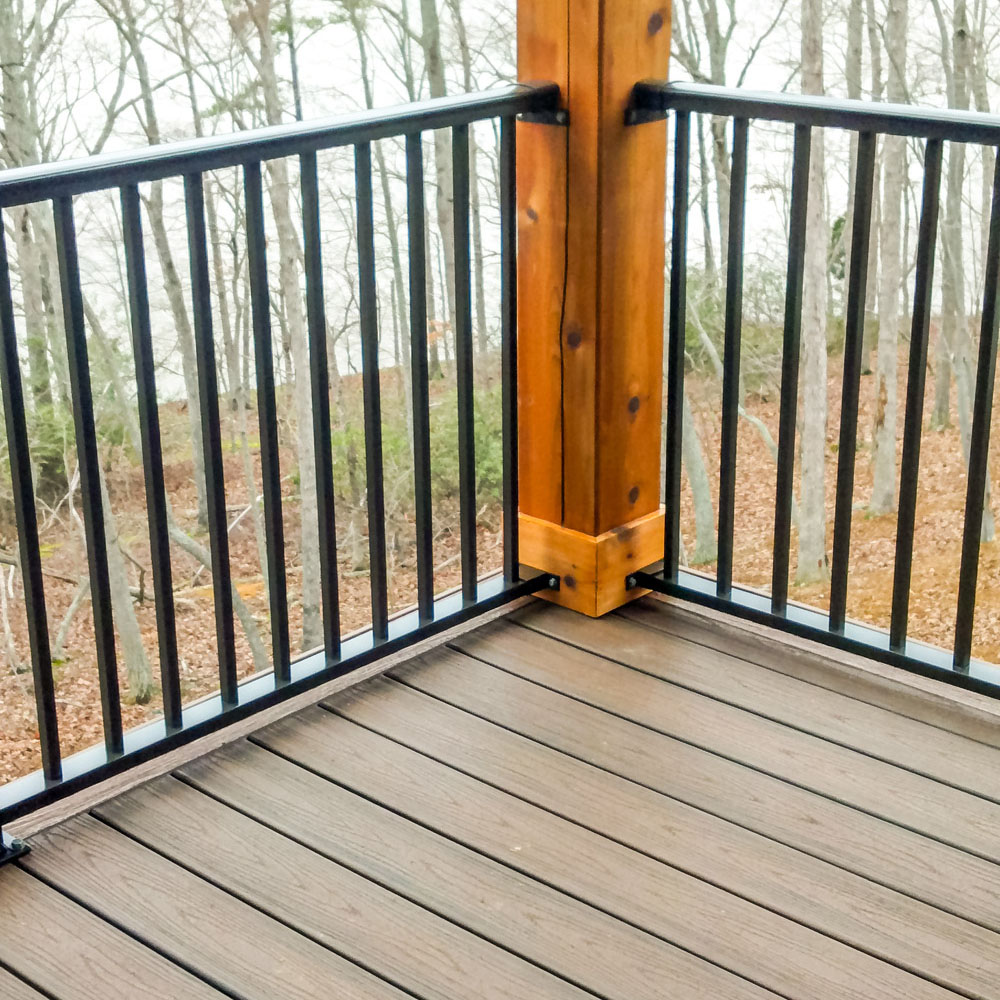 """Trex Transcend - In addition to our traditional products for decks, some of our customers choose to use Trex Transcend®. For your decks, we use the finest wood products in the industry. This engineered wood provides the look of traditional decking without the costly maintenance. This product makes your deck easier to clean and increases the wood's resistance to fading, stains and mold over time. On top of its clean look and durability, this """"green"""" decking is made from 95 percent recycled board, so you'll feel good about taking care of the environment."""