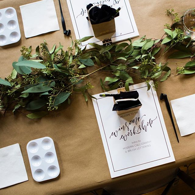 The MOST fun announcement coming your way friends... it's Winsome Workshop time! Join me on either March 16th in Johnson City or March 24th in Nashville for the loveliest of hand-letting lessons! You'll learn everything from brush methods to modern calligraphy, all while sipping and snacking on delicious treats! Spots are very limited for personalized instruction, and I'm so fortunate to say these workshops always sell out! (There are actually only 5 seats left in the JC one!) Link in bio for all the details! Can't wait to see you all there!!