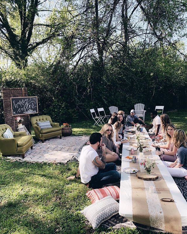 Spent the sweetest Easter Sunday picnicking under the trees in my backyard surrounded my some of my favorite people. The food, the sunshine, the easy laugher and the way the hours just slipped by with no agenda... it all radiated with the meaning of the day. Grace upon grace upon grace. He is Risen. ✨