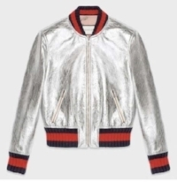 Gucci jacket with blue-red-blue stripe