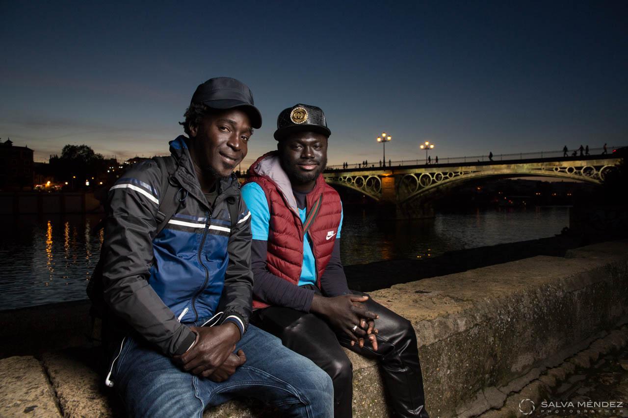 Senegalese in Seville, Spain.