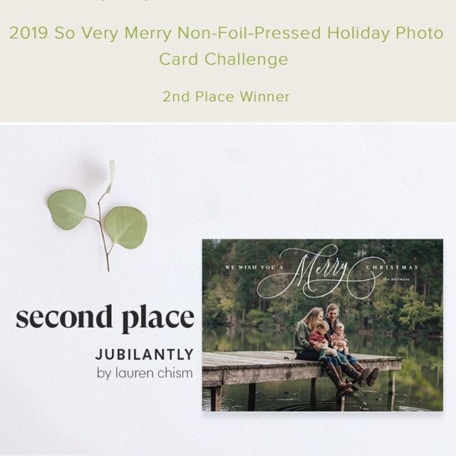 I am stunned by this, but my design came in 2nd place in @minted Holiday Challenge! With 5,700+ submissions, it's the biggest challenge of the year and just so competitive, that I'm not sure how this happened! Thanks to my Mintie friends who alerted me to the win. I missed the announcement because I have a new baby and haven't thought about much else 👶🏼 🤦🏼‍♀️ but now I can't stop thinking about this! 🎄💌