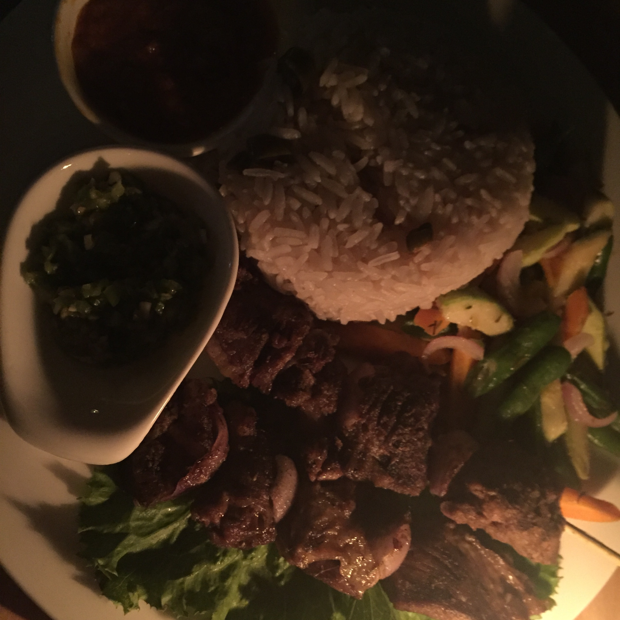 Lamb Kebab and Coconut rice, The Neem Grill
