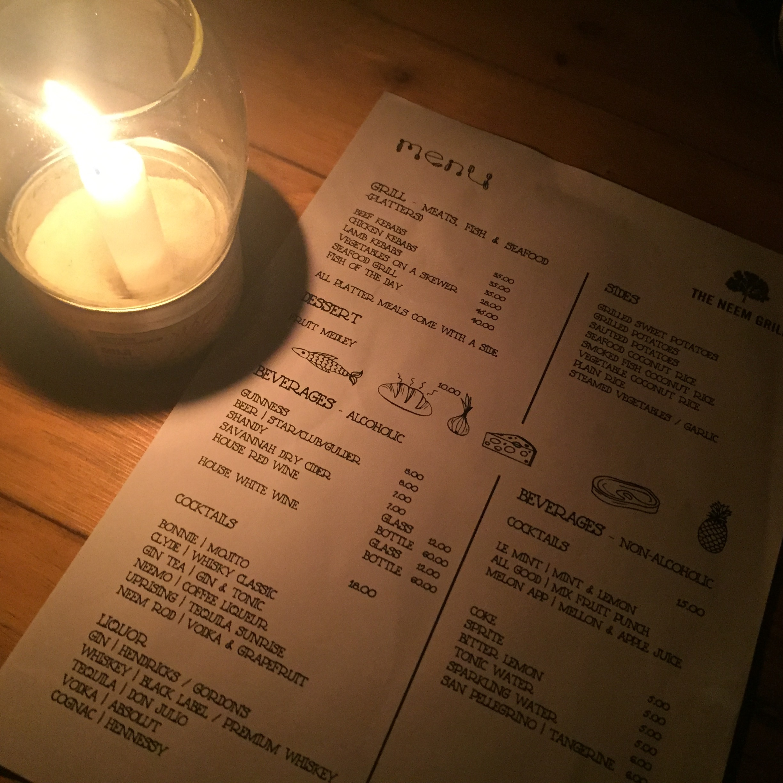 The Menu, The Neem Grill