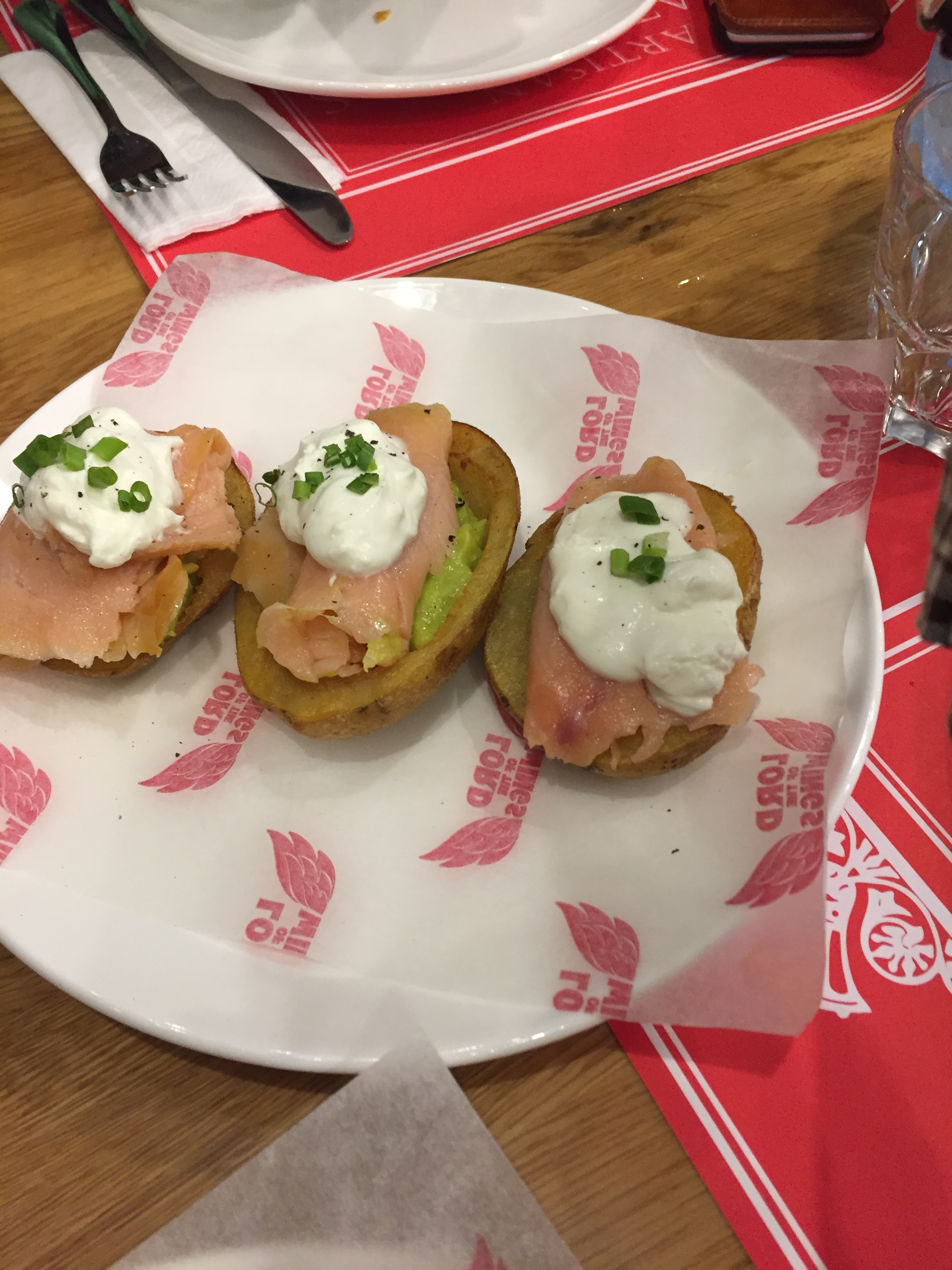 Smoked salmon and Guacamole Potato Skins, Lord of the Wings