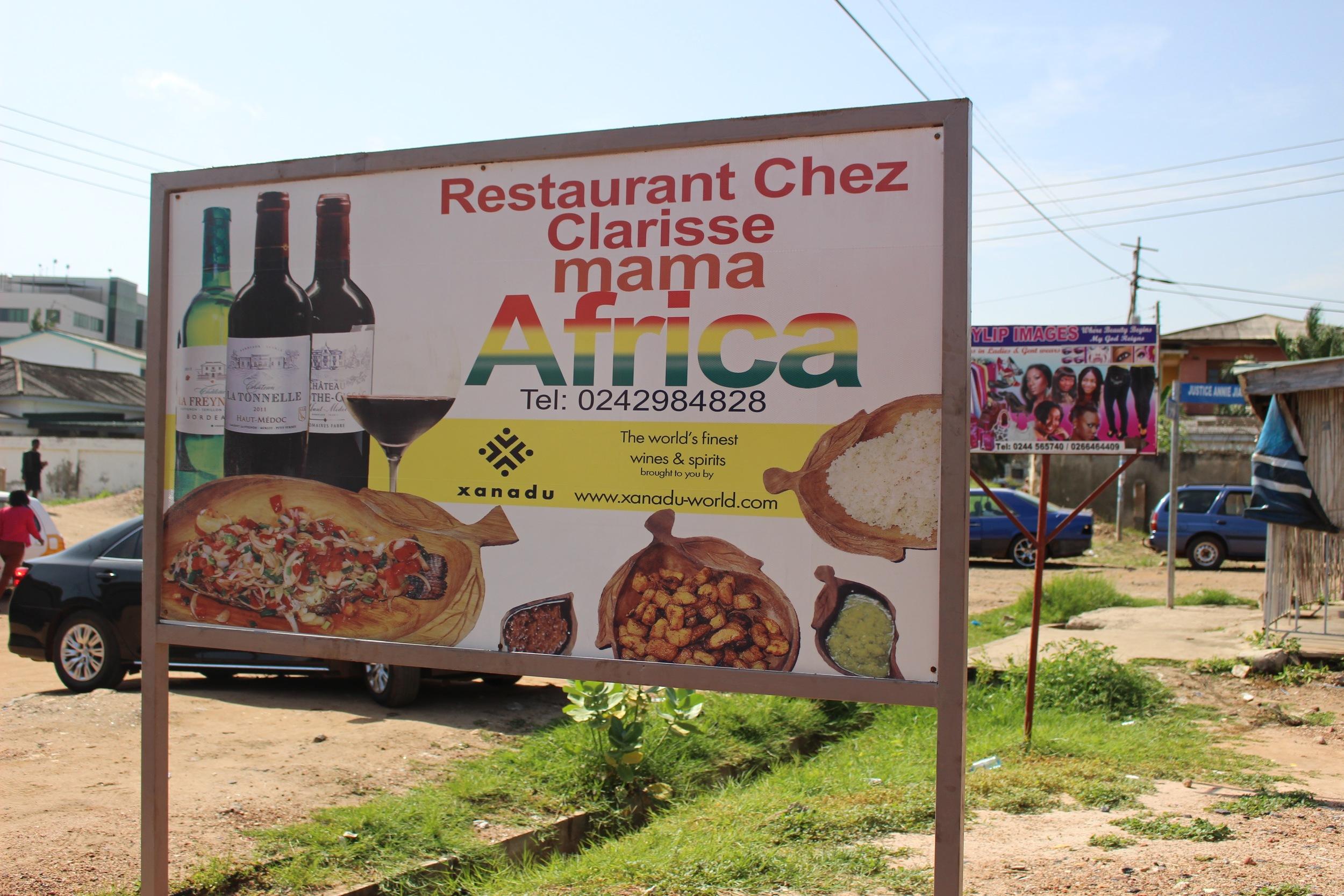 Chez Clarisse Signboard