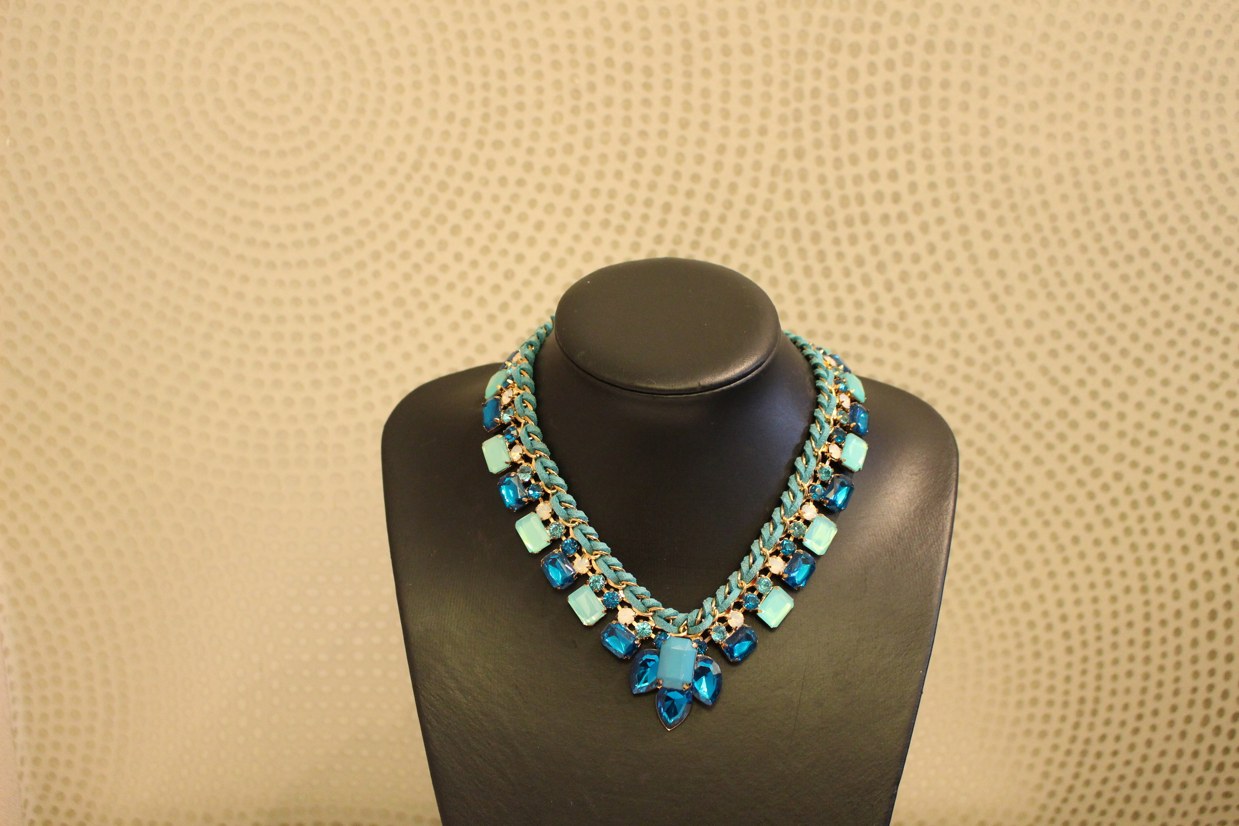 blue necklace tracy j accra