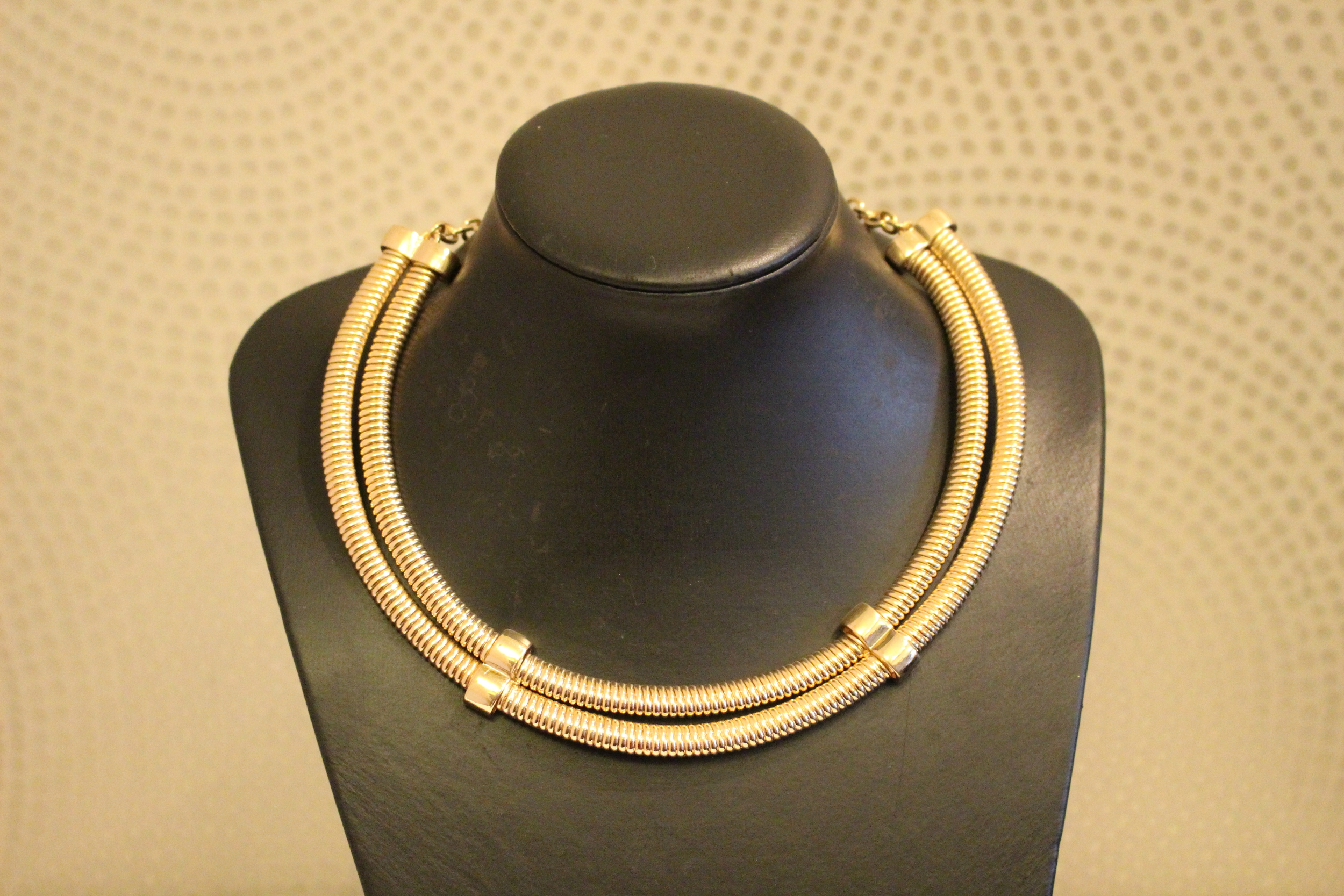 gold necklace tracy j accra