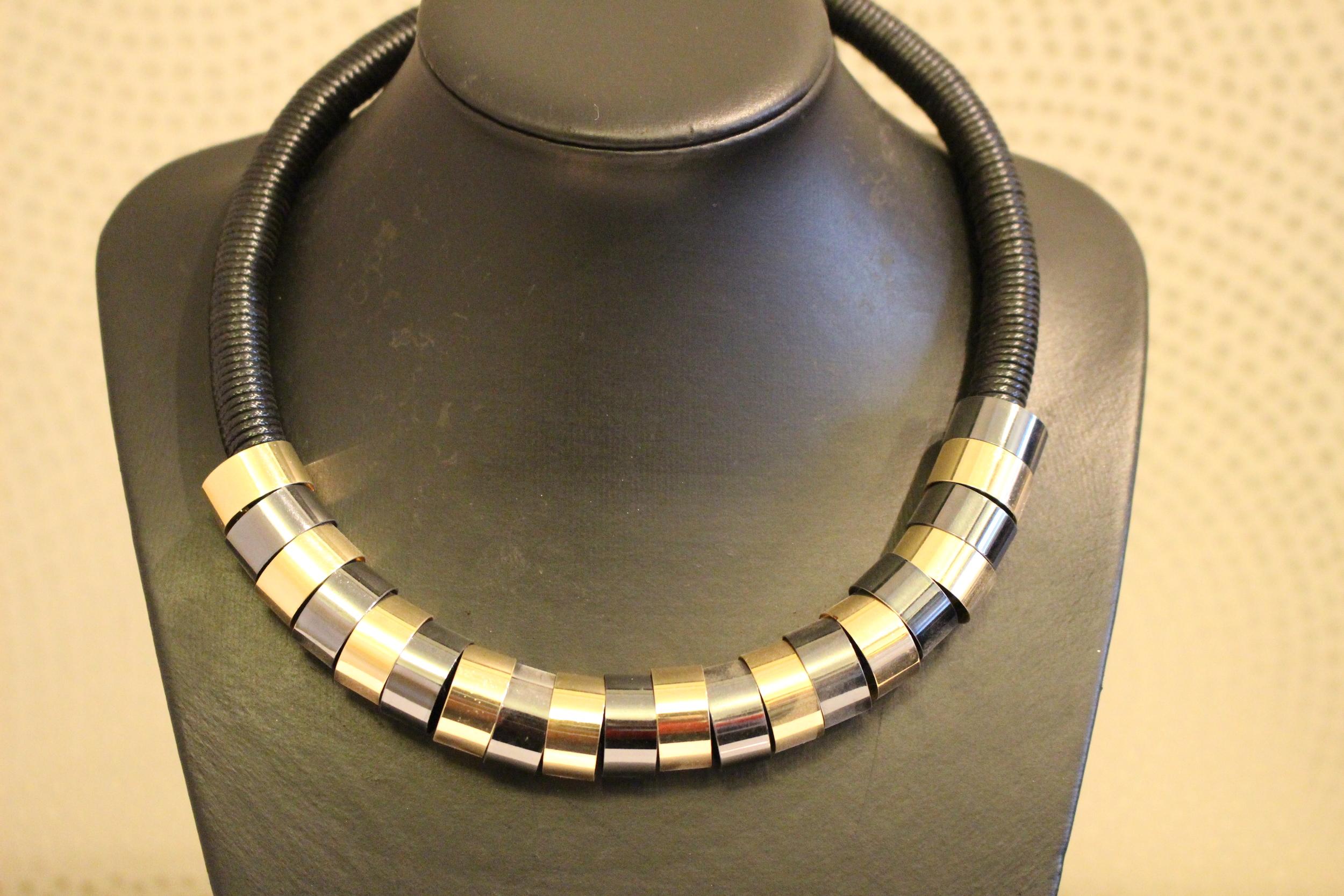 black necklace tracy j accra