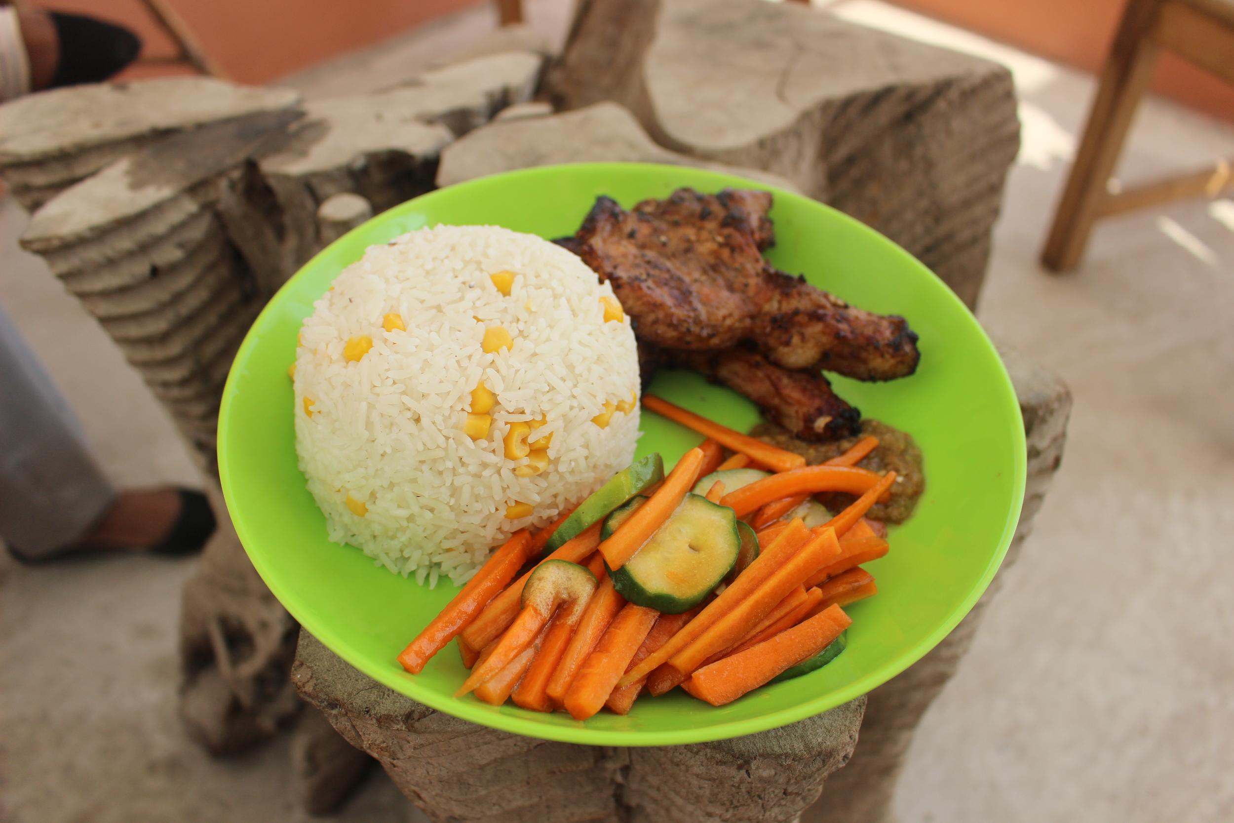 Tea Baa Coconut Rice Pork