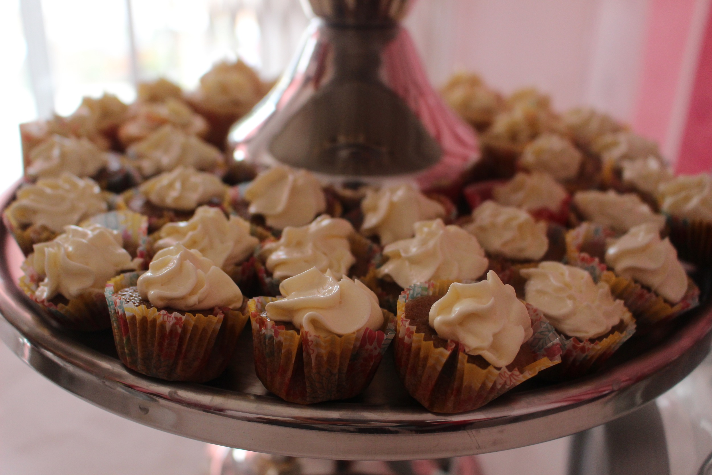 Tray of Apple Caramel mini cuppies, The CuppyCake House