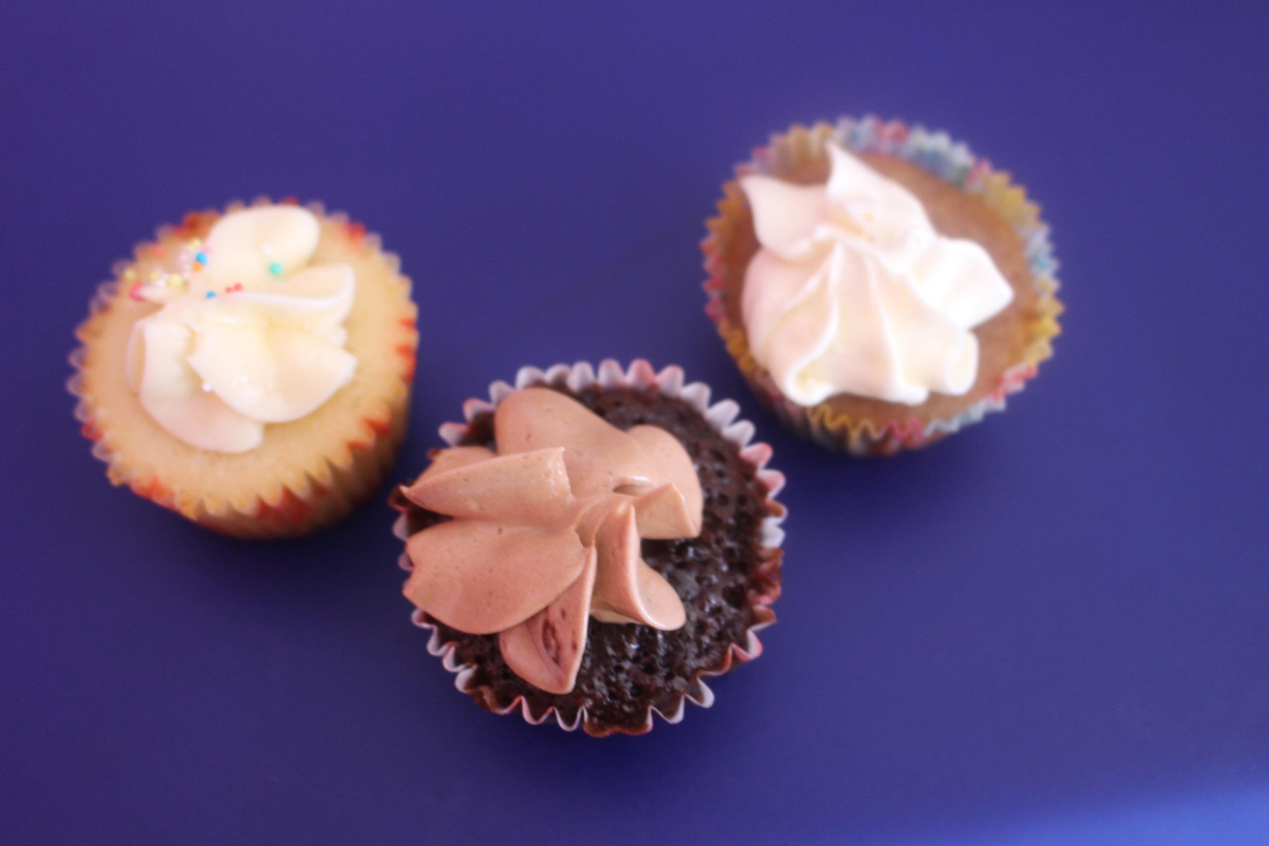 Vanilla, Chocolate and Apple Caramel mini Cuppies, The CuppyCake Shop
