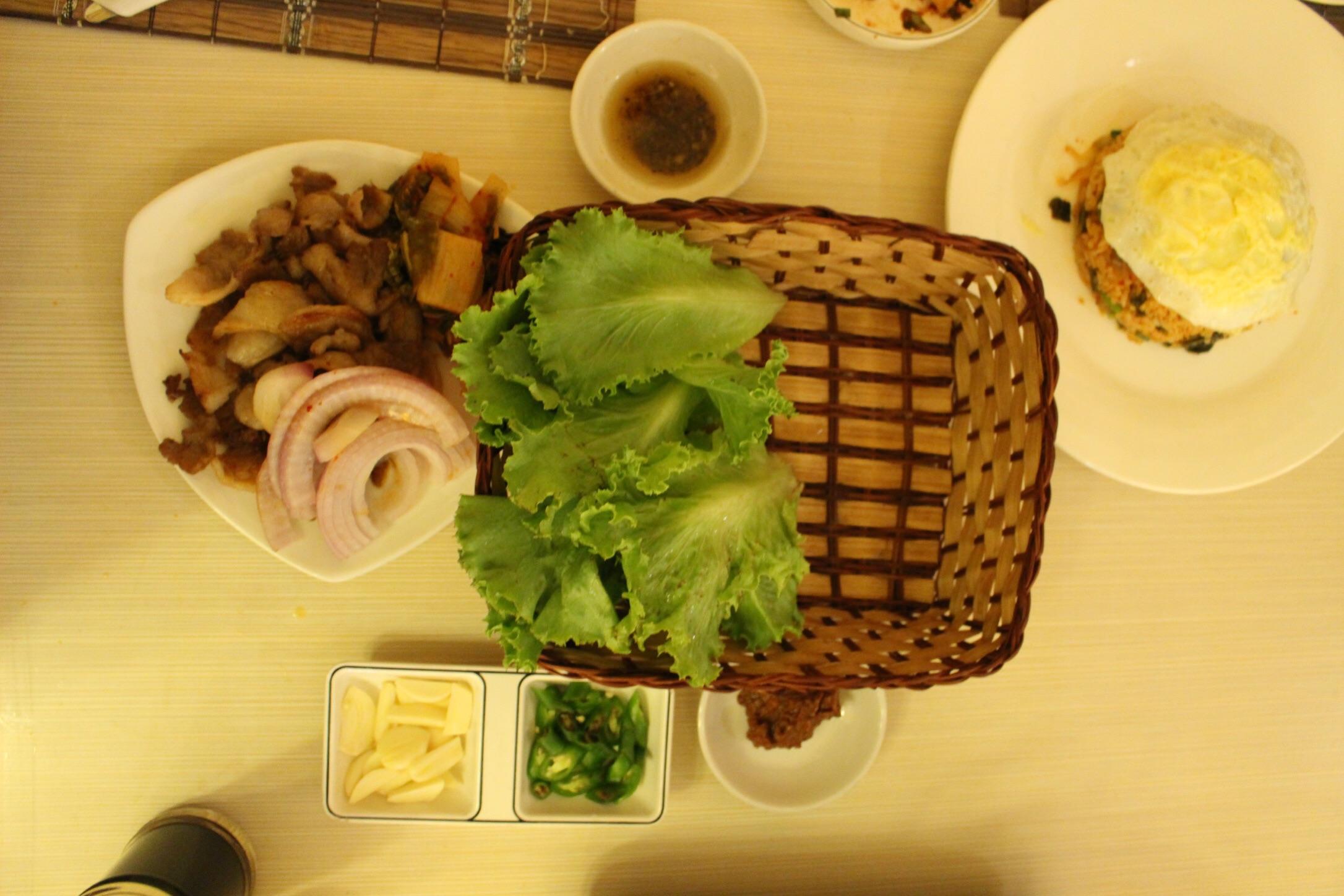 Korean bbq & kimchi fried rice