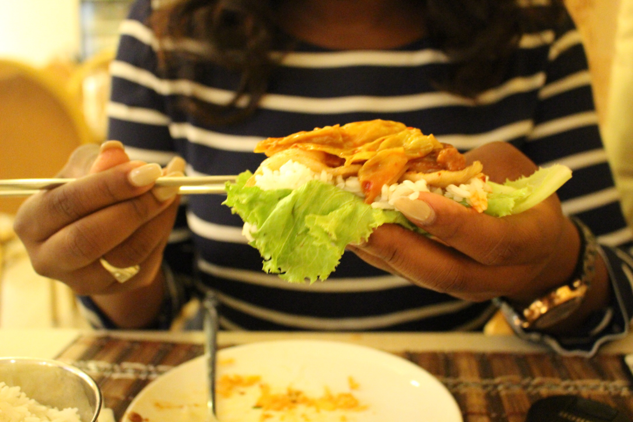 Ash's lettuce roll!