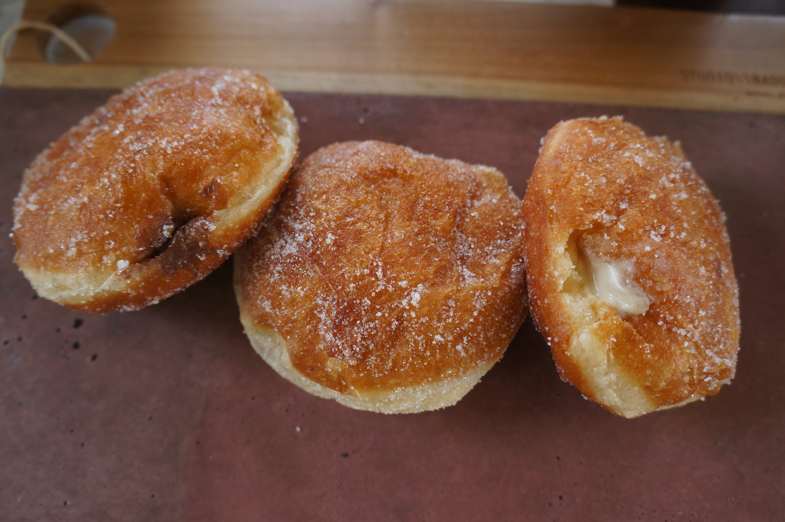 Nutella, Sugar and Custard Donut