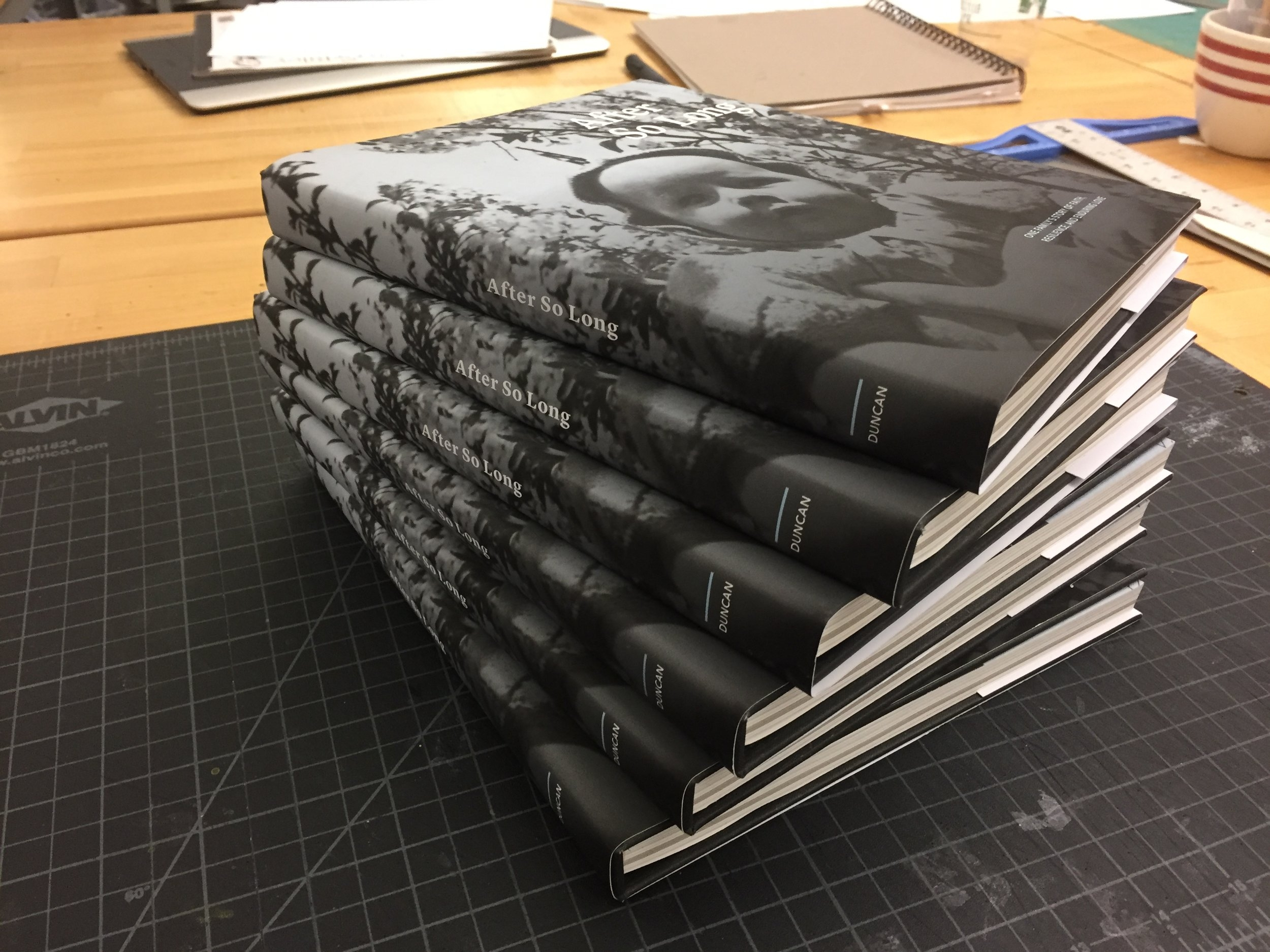 Six final bound copies