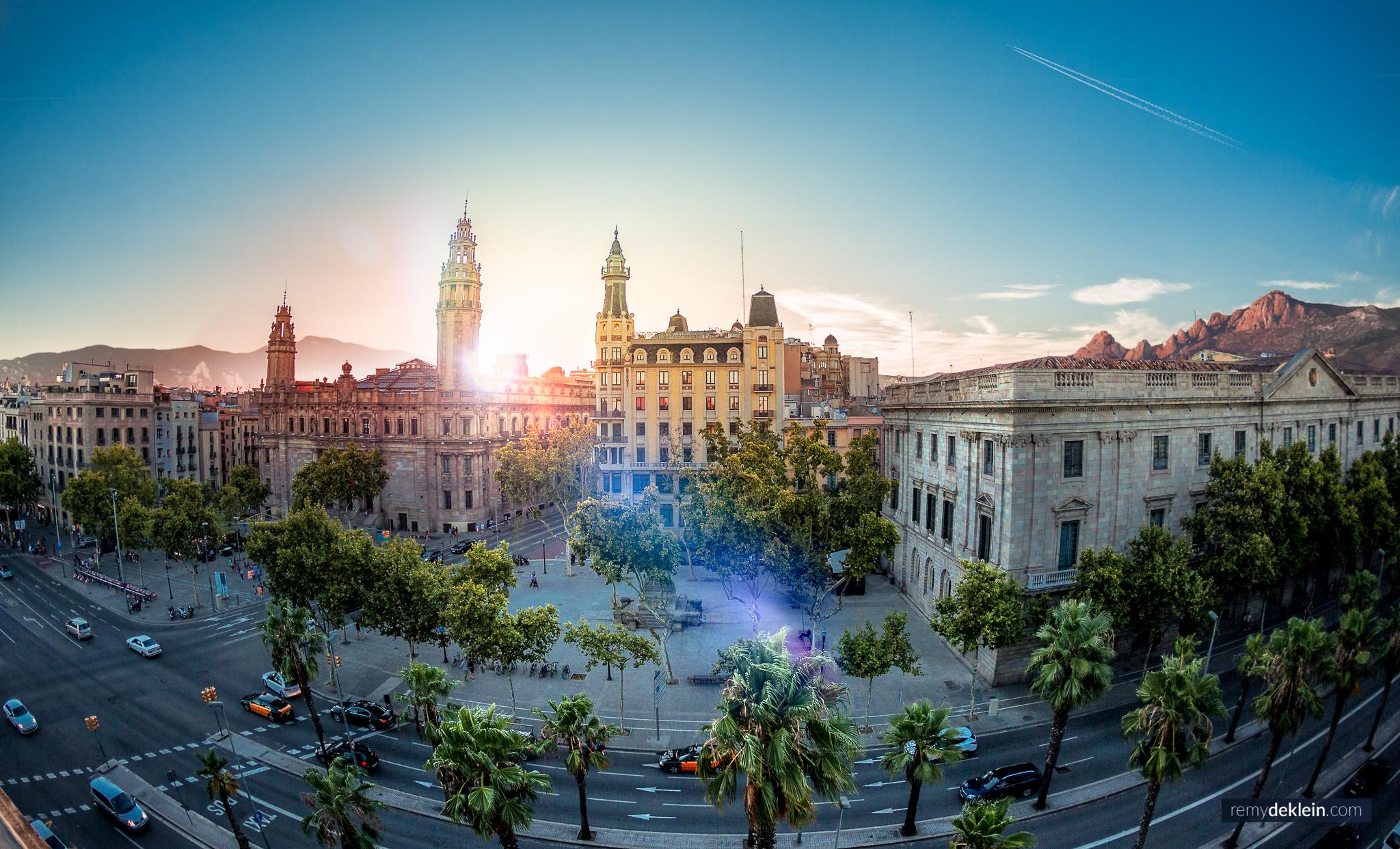 Barcelona city Sunset
