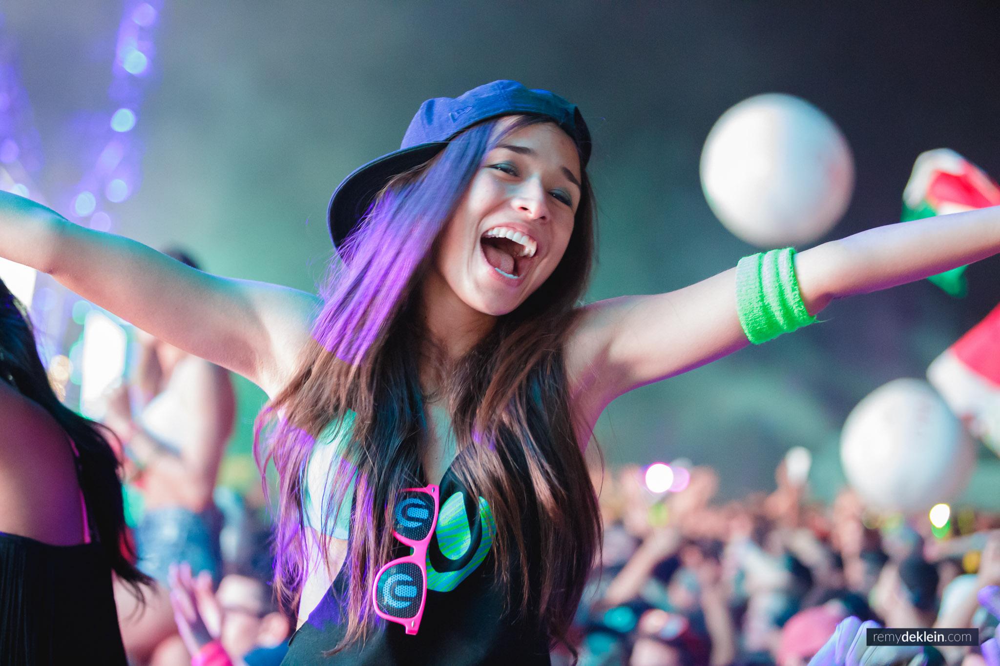 Asian EDM girl at Ultra Miami