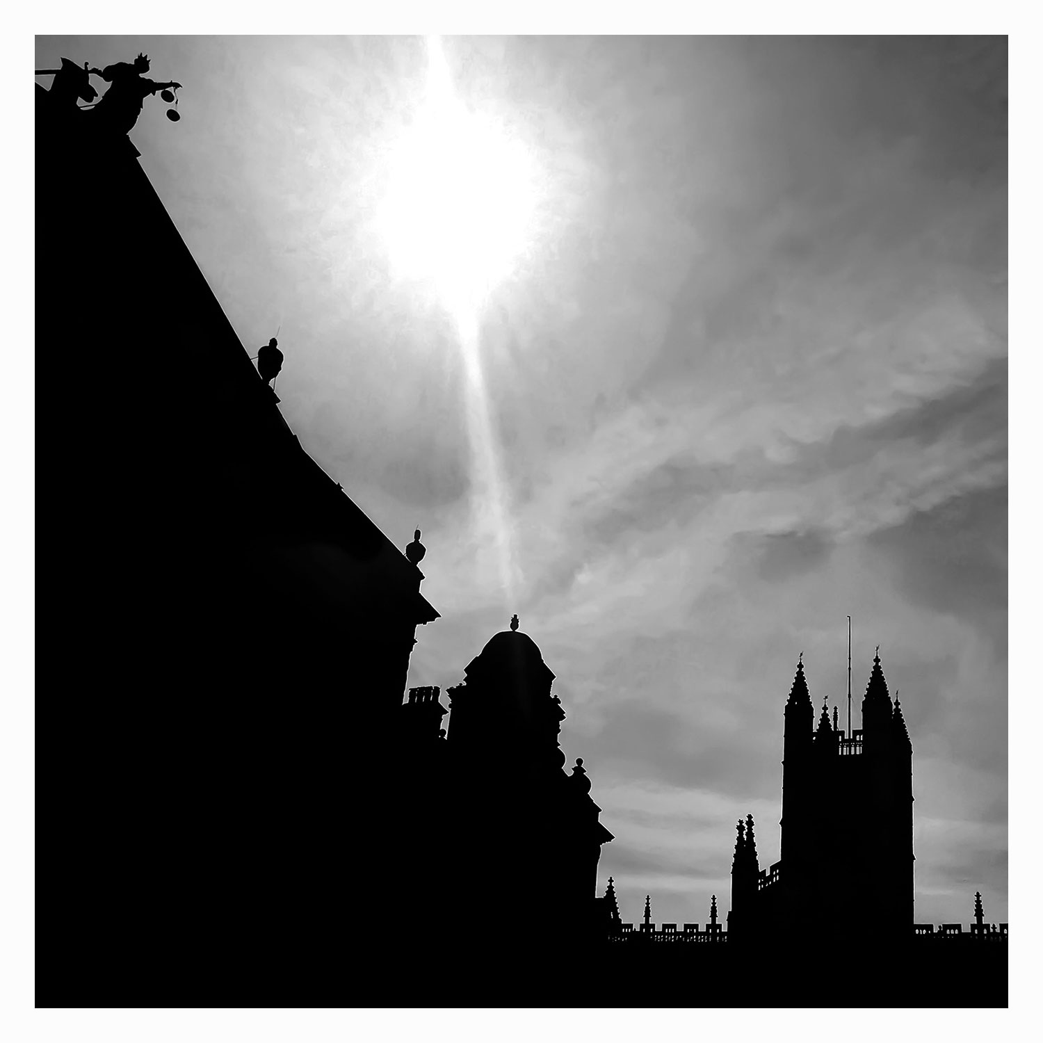 Abbey and Guildhall Silhouette.