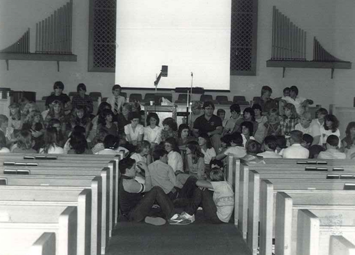 Taken at a Christian school in Tucson, AZ during Prayer Emphasis Week with Chuck Newman. God broke in and the chapel lasted 4 1/2 hours. (September 1983)