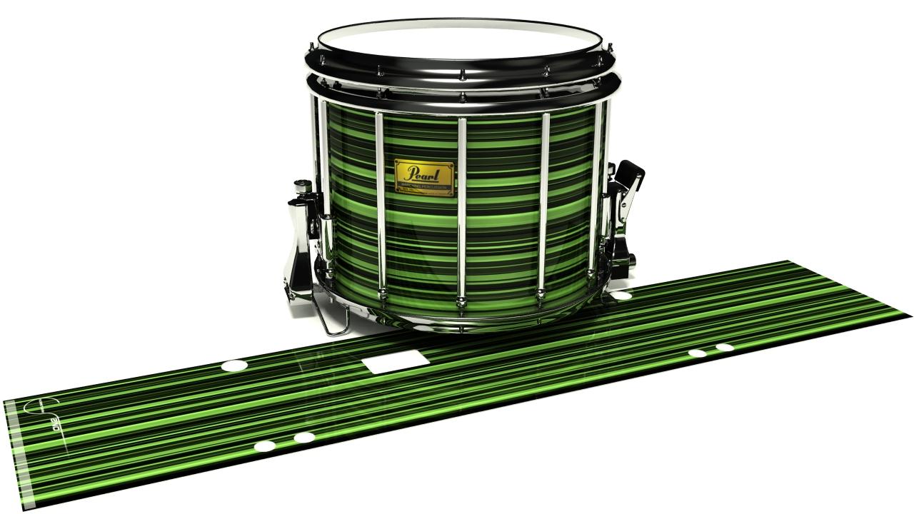 Green Horizon Stripes