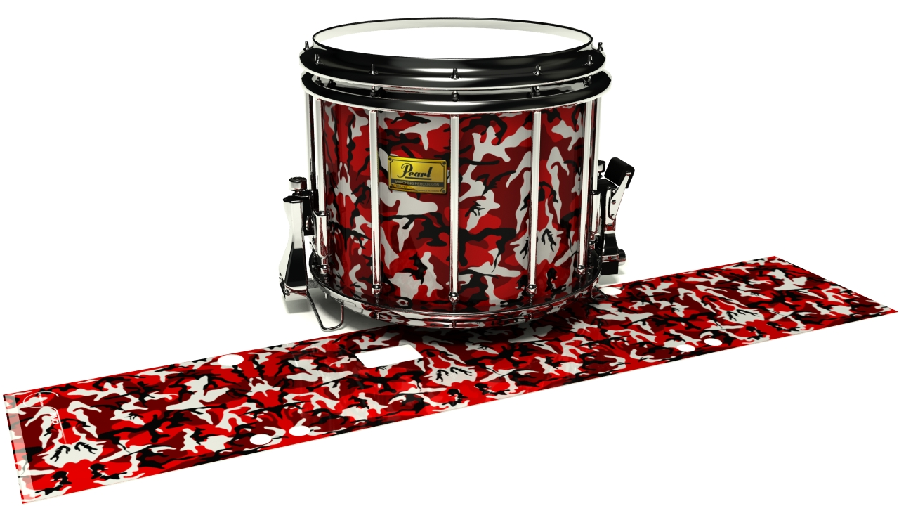 Serious Red Traditional Camouflage