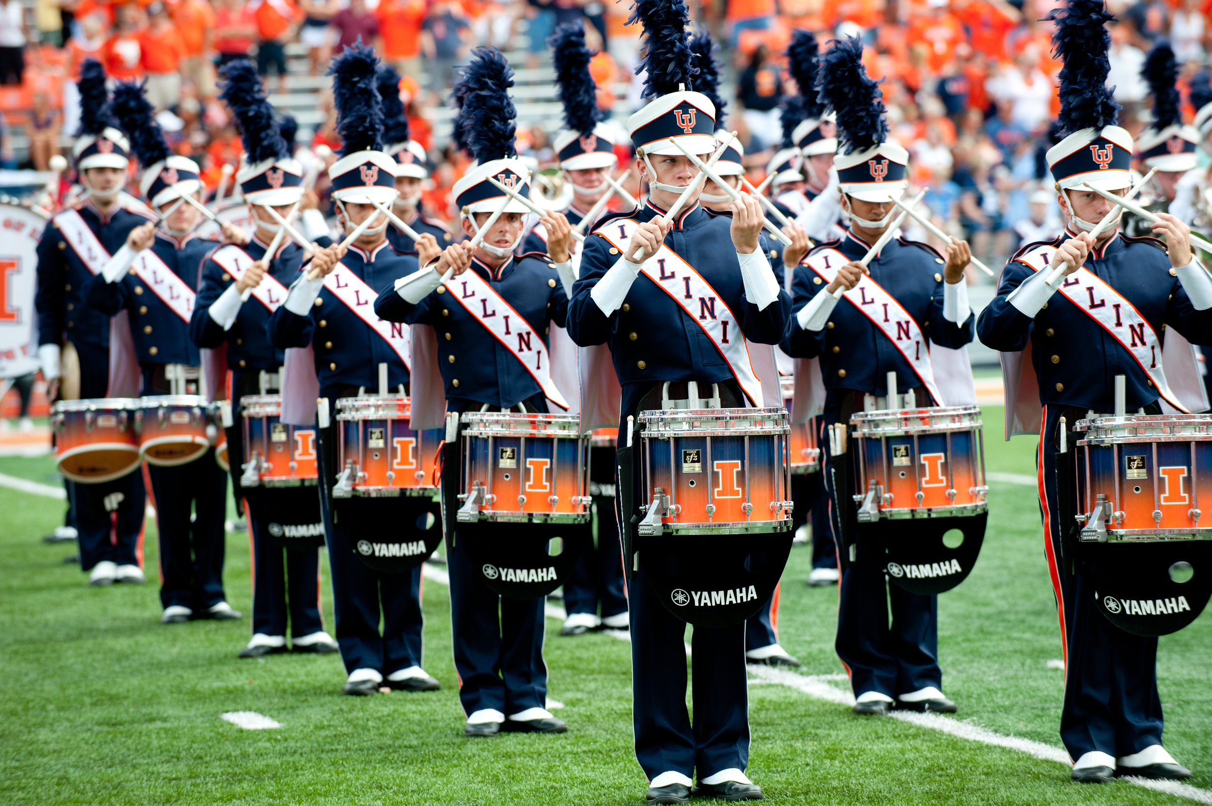 Youngstown State at Illinois - Marching Illini Percussion 010.JPG