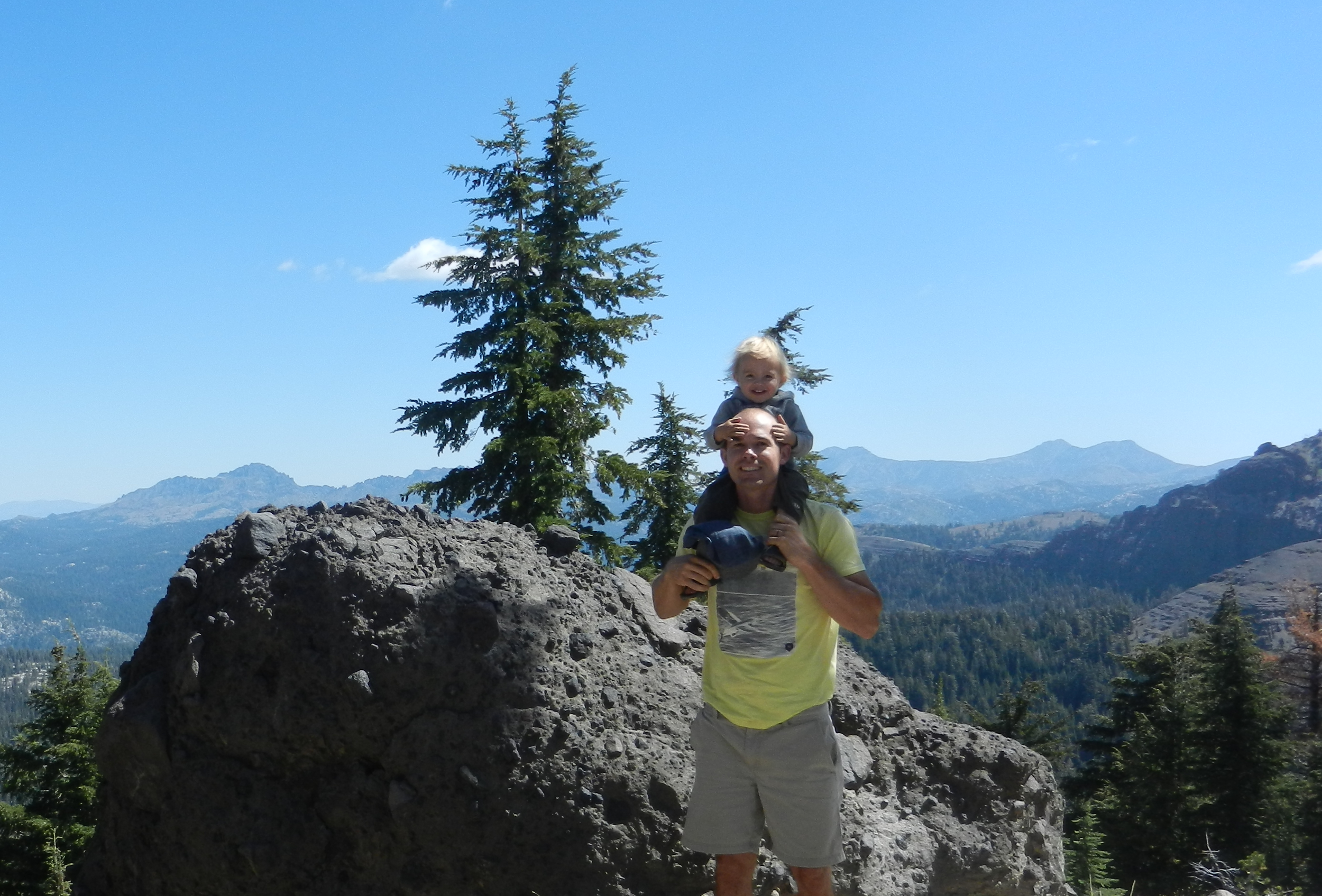 On top of Wheeler Ridge with Highland and Silver Peaks over my left shoulder.