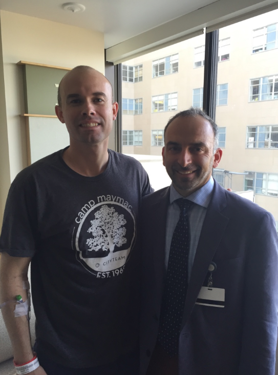 My surgeon Dr. Theodosopoulos and I