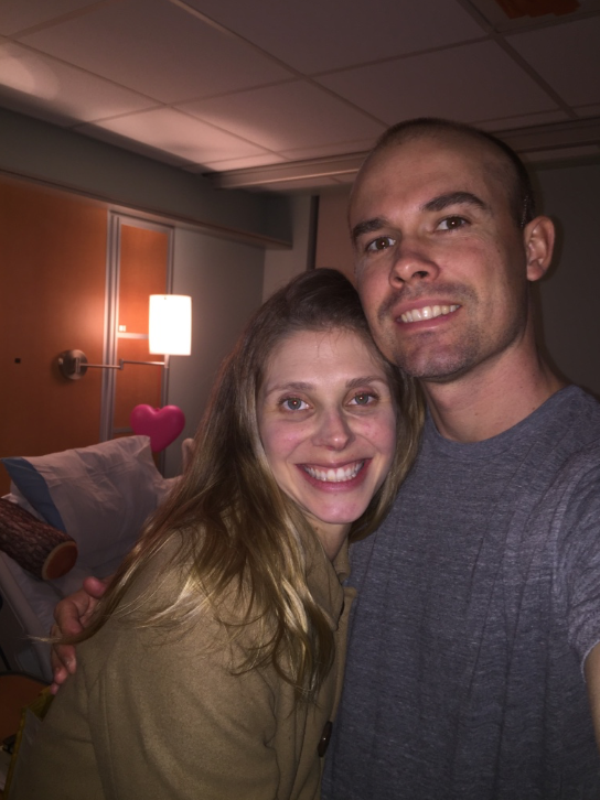Valentines Day with my beautiful bride while in rehab