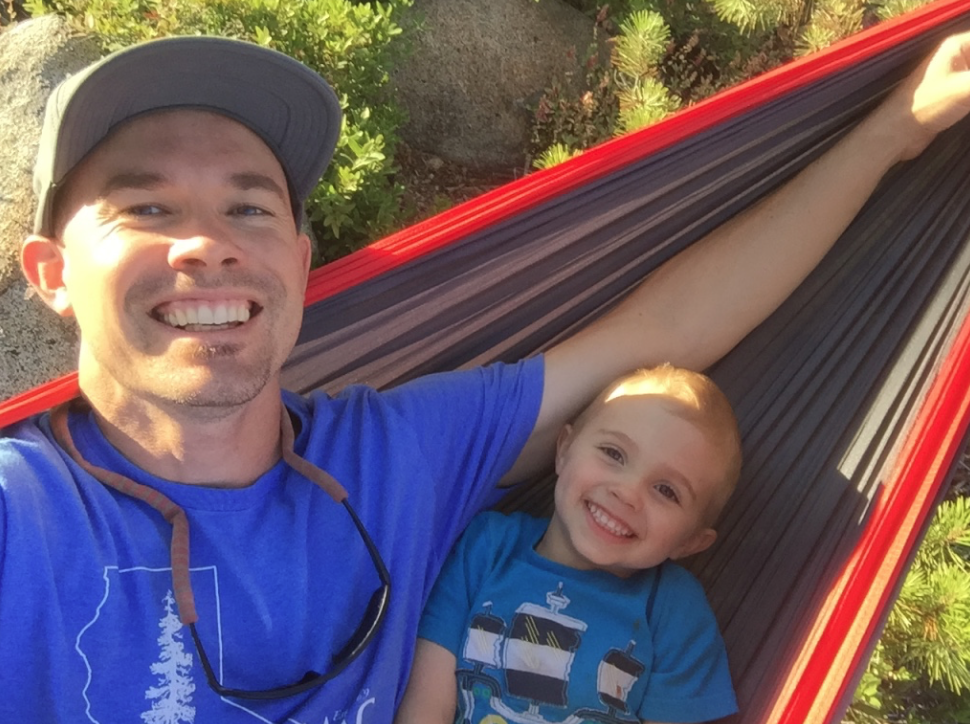 Anderson & I in a hammock out on an island on Union Reservoir